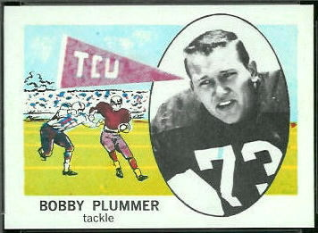 Bobby Plummer 1961 Nu-Card football card