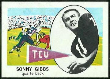 Sonny Gibbs 1961 Nu-Card football card