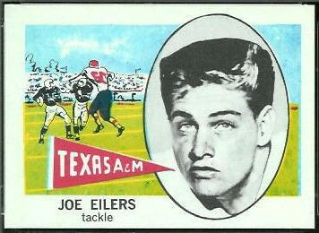 Joe Eilers 1961 Nu-Card football card