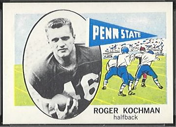 Roger Kochman 1961 Nu-Card football card