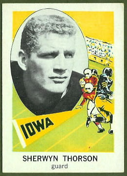 Sherwyn Torson 1961 Nu-Card football card