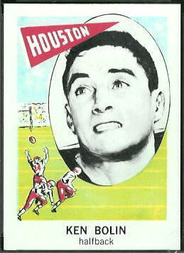Ken Bolin 1961 Nu-Card football card