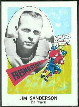 Jim Sanderson 1961 Nu-Card football card