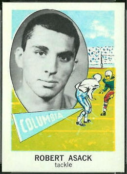 Bob Asack 1961 Nu-Card football card