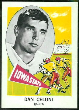 Dan Celoni 1961 Nu-Card football card
