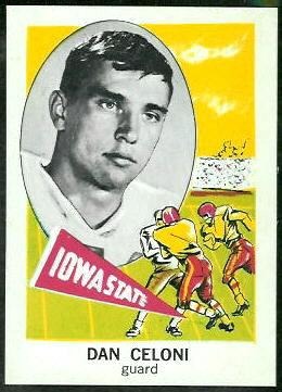 Dan Celoni 1961 Nu-Card football card