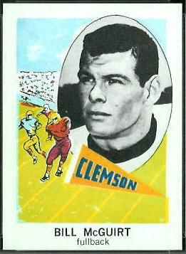 Bill McGuirt 1961 Nu-Card football card