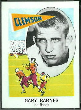 Gary Barnes 1961 Nu-Card football card