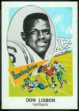 Don Lisbon 1961 Nu-Card football card