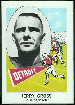 Jerry Gross 1961 Nu-Card football card