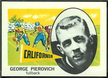George Pierovich 1961 Nu-Card football card