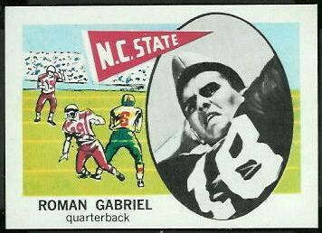 Roman Gabriel 1961 Nu-Card football card