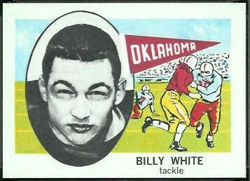 Billy White 1961 Nu-Card football card