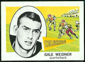 Gale Weidner 1961 Nu-Card football card