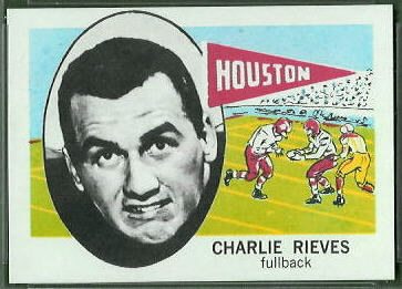 Charlie Rieves 1961 Nu-Card football card