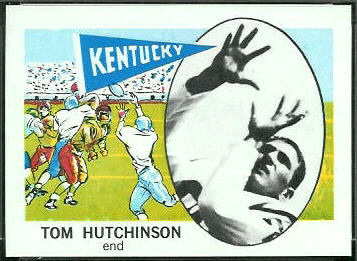 Tom Hutchinson 1961 Nu-Card football card
