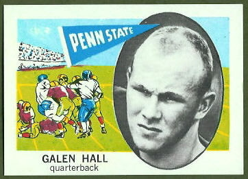 Galen Hall 1961 Nu-Card football card