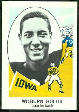 Wilburn Hollis 1961 Nu-Card football card