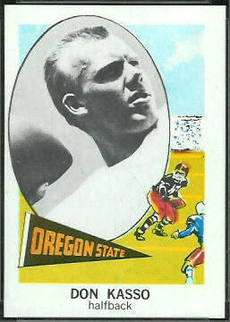 Don Kasso 1961 Nu-Card football card