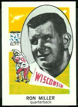Ron Miller 1961 Nu-Card football card