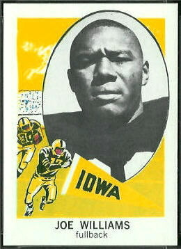 Joe Williams 1961 Nu-Card football card