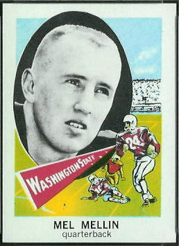 Mel Melin 1961 Nu-Card football card