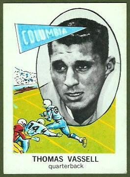 Tom Vassell 1961 Nu-Card football card