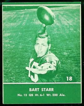 Bart Starr 1961 Packers Lake to Lake football card