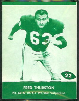 Fuzzy Thurston 1961 Packers Lake to Lake football card