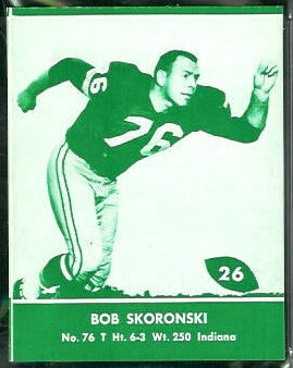 Bob Skoronski 1961 Packers Lake to Lake football card