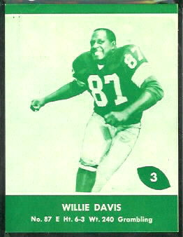 Willie Davis 1961 Packers Lake to Lake football card