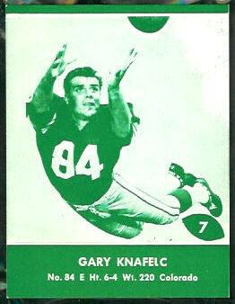 Gary Knafelc 1961 Packers Lake to Lake football card