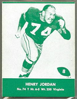 Henry Jordan 1961 Packers Lake to Lake football card