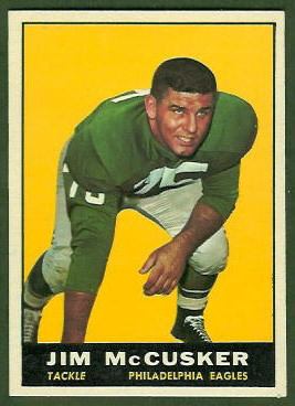 Jim McCusker 1961 Topps football card