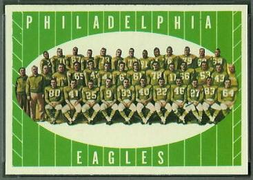 Philadelphia Eagles Team 1961 Topps football card