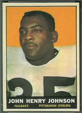 John Henry Johnson 1961 Topps football card