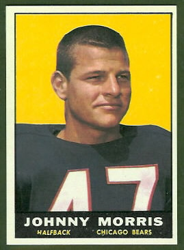 Johnny Morris 1961 Topps football card