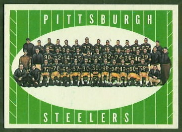 Pittsburgh Steelers Team 1961 Topps football card