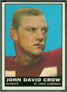 John David Crow 1961 Topps football card