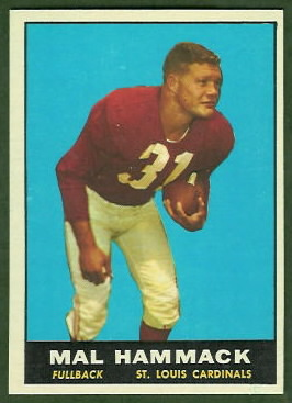 Mal Hammack 1961 Topps football card