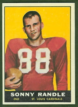 Sonny Randle 1961 Topps football card