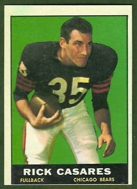 Rick Casares 1961 Topps football card