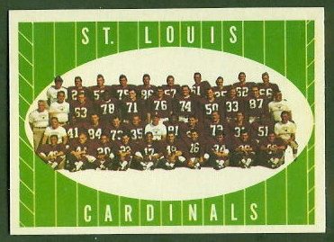 St. Louis Cardinals Team 1961 Topps football card