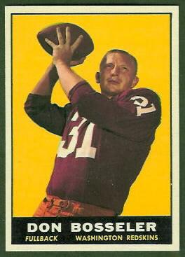 Don Bosseler 1961 Topps football card