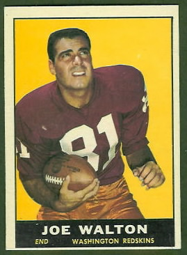 Joe Walton 1961 Topps football card