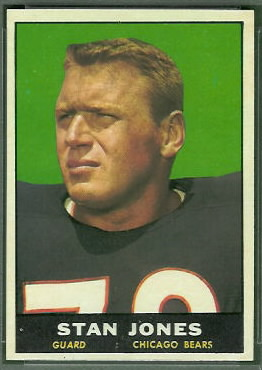 Stan Jones 1961 Topps football card