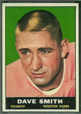 Dave Smith 1961 Topps football card