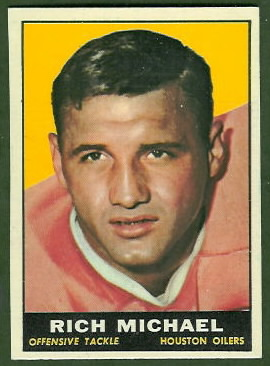 Rich Michael 1961 Topps football card