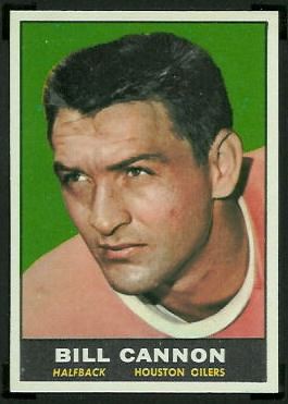Billy Cannon 1961 Topps football card