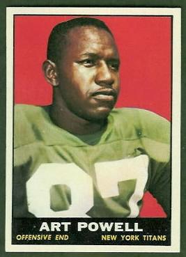 Art Powell 1961 Topps football card